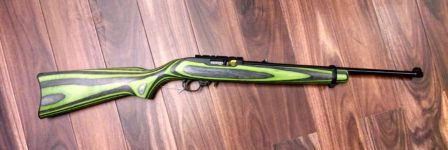 RUGER 10/22 GREEN BLACK .22LR RIFLE SPECIAL EDITION