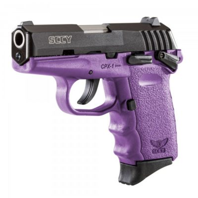 SCCY CPX1 9MM PURPLE PISTOL WITH SAFETY