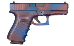 GLOCK 19 GEN 4 BATTLEWORN RED AND BLUE 9MM PISTOL