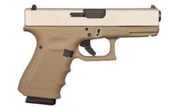 GLOCK 19 GEN 4 FDE AND ALUMINUM 9MM PISTOL
