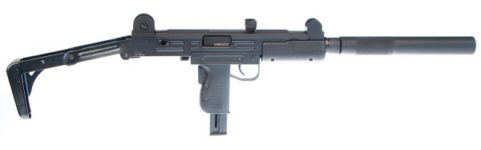 IWI WALTHER UZI 22LR RIFLE FOLDING STOCK AND FAUX SUPPRESSOR