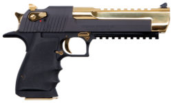 MAGNUM RESEARCH DESERT EAGLE BLACK AND GOLD 50AE PISTOL